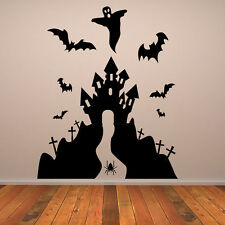Haunted House Kids Scary Halloween Wall Stickers Seasonal Home Decor Art Decals