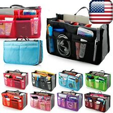 Women Lady Travel Insert Handbag Organiser Purse Large Liner Organizer Tidy Bag#