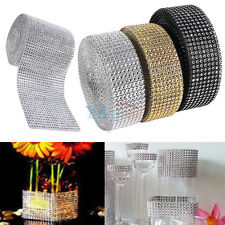 10 Yard Rhinestone Mesh Ribbon Roll Crystal Diamond Wrap Arts Crafts Project ES