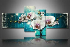 Modern Abstract hand-painted Art Oil Painting Wall Decor canvas,Flower 4pc