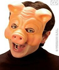 Fancy Dress Half Face Pig Mask Plastic Farm Animal Snout Piggy 3 Little Wolf