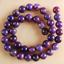 VB2047-2050 Wholesale Purple Lepidolite Ball Loose Beads 4mm 6mm 8mm 10mm Pick