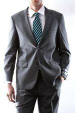 Men's Two Button Gray Wool Max Slim Fit Dress Suit Style #47012H-47083