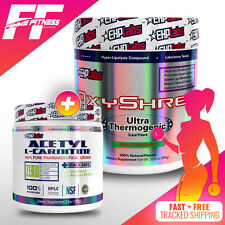 EHP Labs Oxyshred 60 Serves + EHPLabs ACETYL L-CARNITINE 100G, FAT BURNERS STACK