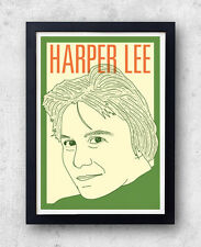 Harper Lee Print! To Kill a Mockingbird, Go Set a Watchman, poster, american