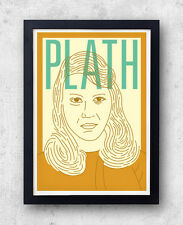 Plath Print! Sylvia Plath Poster, The Bell Jar, Ariel, Ted Hughes, poetry,