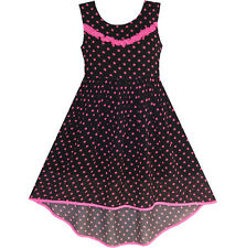 Sunny Fashion Girls Dress Hi-lo Polka Dot Pleated Chiffon Party Dress Size 7-14