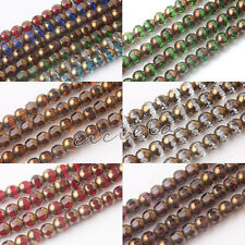 20/40Pc Women Rondelle Faceted Crystal Glass Loose Round Spacer Bead 8mm Jewelry