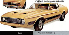 73 1973 Mustang Mach 1 Complete Stripes Kit Mach1 FORD Stripe Manufacturer NEW