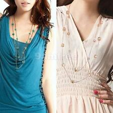 Elegant Square Chic Beads Multi-layer Necklace Fashion Sweater Chain Necklace