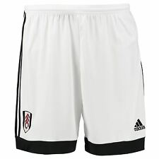 adidas Mens Gents Football Soccer Fulham Away Shorts Bottoms 2016-17 - White