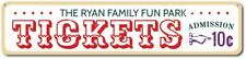 Personalized Fun Park Tickets Admission Beach House Sign ENSA1001348
