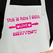 Personalized  Apron.  Custom apron ~ This is How I Roll. Custom Kitchen Apron
