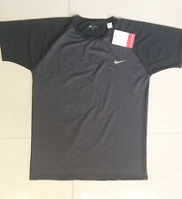 NWT-NIKE-DRI-FIT-T90-Football-Soccer-Tee-T-Shirt Mens Sizes XL Black Gray