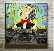 "Handcraft Portrait Oil Painting on Canvas""Alec Monopoly"" Art Paint 28''x28''"