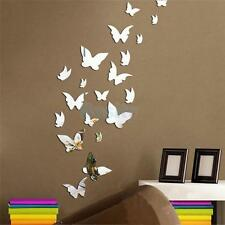 Various Acrylic Mirror Wall Removable Decal Art Mural Room Decor Vinyl Stickers