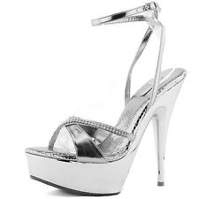 Womens High Heel Platform Peep Toe Ankle Strap Evening Party Dress Sandal Shoes