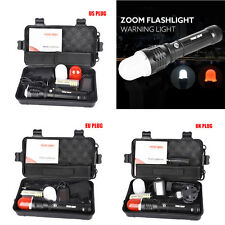 Super Bright 5000 LM Zoomable XM-L T6 LED Adjustable Focus Flashlight Cob Torch