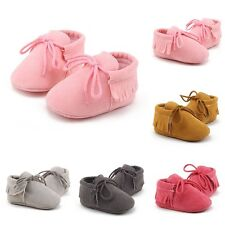 Toddler Baby Moccasins Tassel Soft Sole Leather Shoes Infant Boy Girl 0-18 M