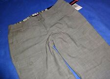 "NWT Flirtatious OLIVE CAPRIS womens STRETCH cropped PANTS juniors 5 24"" inseam"