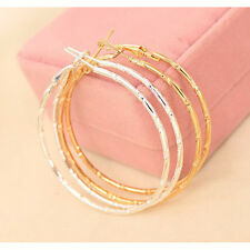 Stunning Large Big Gold/Silver Hoop Earrings Large Circle Creole Chic Hoops