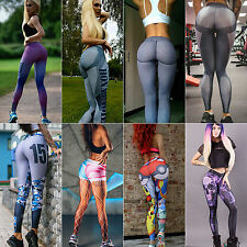 Women Yoga Pants Running Sports Leggings Ladies Fitness Jogging Stretch Trousers