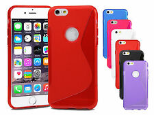 Apple iPhone 7 Silicone Gel S Line Case Cover + Screen Protector