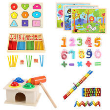 Children Wooden Toys Puzzle Early Learning Educational Intelligence Kid Toy Gift