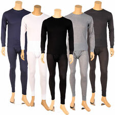 Mens 2pc Thermal Underwear Set Long Johns Waffle Knit Top Bottom M L XL 2X