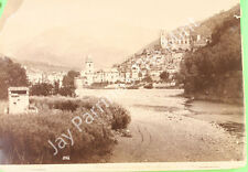 AEO-203 VINTAGE PHOTO- VIEW OF DOLCEACQUA, ITALY- (MOUNTED)