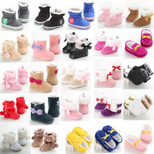 Toddler Baby Girls Boys Snow Boots Winter Crib Shoes Size Newborn to 18 Months S