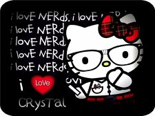 Helloy kitty Personalized Custom Mouse pad Hello kitty Nerd Mouse pad