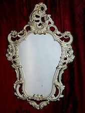 Shabby Chic White Gold Wall Mirror Baroque Antique 50X76 deco 118 NEW