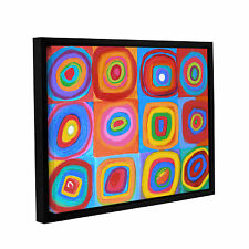 'Interpretation of Farbstudie Quadrate' Gallery Wrapped Floater-framed Canvas