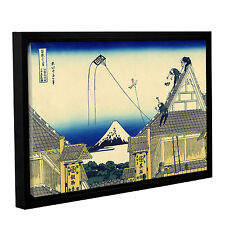 'Mitsui Shop on Suruga Street in Edo' Gallery Wrapped Floater-framed Canvas
