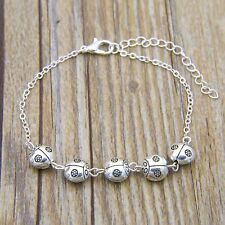 Vintage Mermaid Gold Filled Chain Bracelet Long Jewelry Wholesale New