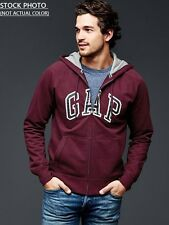 BRAND NEW GAP MEN ARCH LOGO FULL ZIP WITH  HOODIE SWEATSHIRT SIZES S-M-L