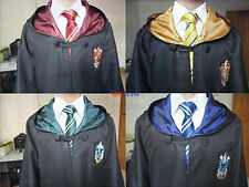 New Harry Potter Cape Cloak Gryffindor/Hufflepuff/Slytherin Tie Scarf Cos Mantle
