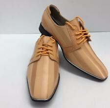 Boys Peach Dress Shoes with Satin Uppers Sizes 3.5 - 7 Hugo Vitelli Style K83PCH