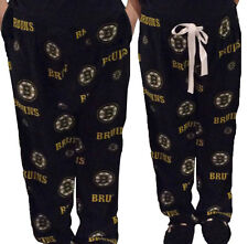 Mother & Son 2 Pair Boston Bruins Fleece Pajama Pants Sleepwear Lounge Pants NEW