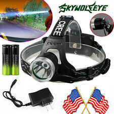 Zoomable 5000LM CREE XM-L T6 LED Headlight Flashlight Torch 2x18650  US Charger