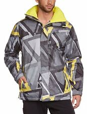 Quiksilver Men's Blouson Mission Printed 10k Snowboard Jacket  / Gray / Large