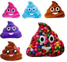 New Funny Pillow Poop Shape Pink Smile Face Soft Emoji Emotion Cushion Toy Decor