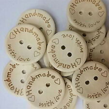 100Pcs Butterfly Love Heart Letter Carved Sewing Scrapbooking Buttons Exquisite
