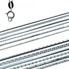Plain Chain Necklace For Pendant - 925 Sterling Silver