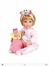 BRAND NEW ADORA BABY GIRL 20 IN BABY DOLL WITH BUTTERFLY PINK ROMPER BLANKET