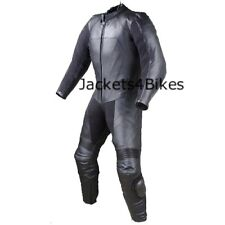New Men's 1PC One-Piece Armor Leather Motorcycle Racing Suit w/ Hump US Size