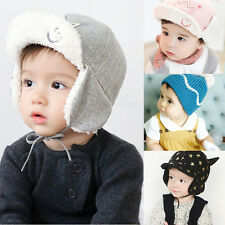Fashion Winter Baby Beanie Hat Warm Cute Kids Boys Girls Toddler Knitted Cap lot