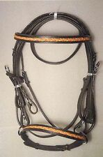 Yesrd Fashionable Leather Horse Dressage Bridle with Leather Rein - LDB-08
