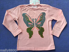 """Funky Babe - Girls - Long Sleeve - Top - Tshirt - """"BUTTERFLY"""" - Size 3"""